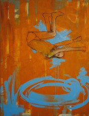 Laura Raborn, Moving, 2014, acrylic, oil and charcoal on canvas,
