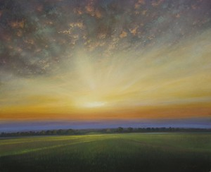 """Rice Field at Sunset"" by Matthew Hasty (c)"