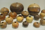 Assorted Hollow Form Vessels by Gene Sparling