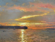 Ephraim Sunset byJasonSacran14x18acryliconcanvasweb