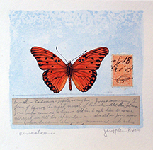 """Rememberance, Gulf Fritillary Butterfly"" by Jeri Hillis (c)"