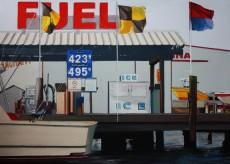 564 - Fuel, Pastel, 30x42